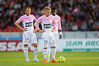Olivier SORLIN / Daniel WASS - 09.05.2015 -  Evian Thonon / Reims  - 36eme journee de Ligue 1<br />