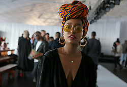 Cape Town-180707- Make up artist Naledi Mariri at the SA mens wear week  held at the Lookout, V%A Waterfront. Picture: Siphephile Sibanyoni/ African News Agency (ANA).