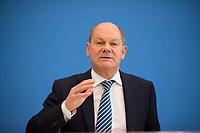 DEU, Deutschland, Germany, Berlin, 20.02.2019: Bundesfinanzminister Olaf Scholz (SPD) in der Bundespressekonferenz zum Gesetzentwurf gegen illegale Beschäftigung und Sozialleistungsmissbrauch.