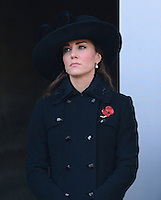 The Duchess of Cambridge attends the Remembrance Sunday Service at the Cenotaph, London, UK, on the 11th November 2012.