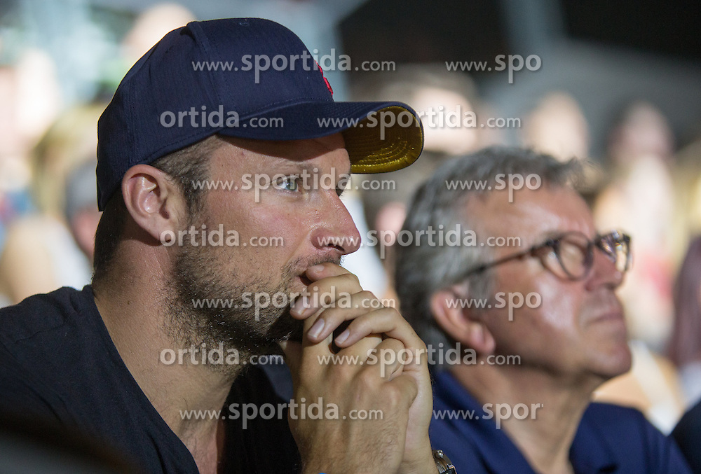 20.05.2016, Olympiaworld, Innsbruck, AUT, ISFC, Climbing World Cup, Finale, im Bild Aksel-Lund Svindal im Publikum // during final of the IISFC Climbing World Cup at the Olympiaworld in Innsbruck, Austria on 2016/05/20. EXPA Pictures © 2016, PhotoCredit: EXPA/ Jakob Gruber