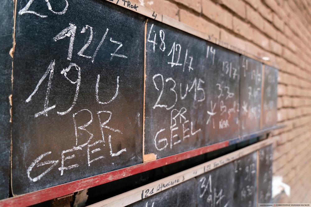 Oudenaarde, Belgium, 13 jul 2017, Brickworks Vande Moortel was established in 1864 in the Scheldt Valley and today the only industrial manufacturer left in the region. They are specialised in hand made authentic bricks made with clay from the river #scheldt #schelde #escaut