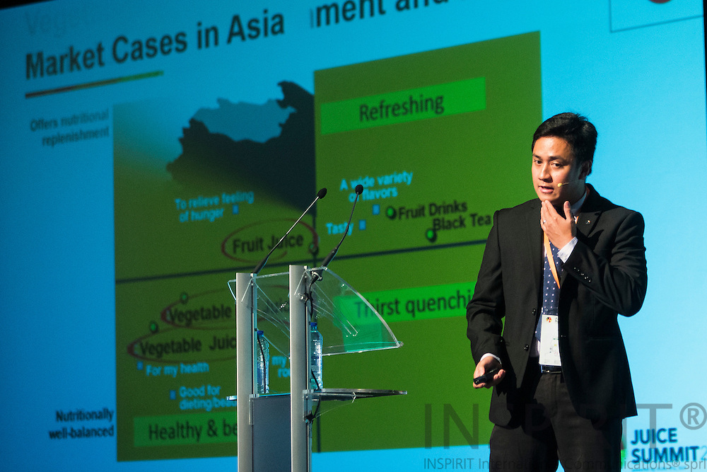Christopher Lazaro, Global Marketing Manager, Tetra Pak, DE, at the Juice Summit in Antwerp 15 - 16 October 2014. Photo: Erik Luntang