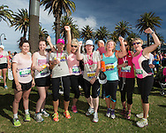 Sussan Women's Fun Run 2013. St Kilda, Melbourne, Victoria, Australia. 08/12/2013. Photo By Lucas Wroe