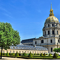Southern Façade of Hôtel des Invalides in Paris, France<br />