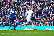 Leeds United forward Patrick Bamford (9) in action during the EFL Sky Bet Championship match between Leeds United and Huddersfield Town at Elland Road, Leeds, England on 7 March 2020.