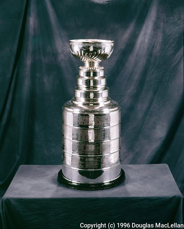 (Photo Credit: 1996 MACLELLAN). Canada, Ontario, Toronto. 1996. The Stanley Cup as photographed at the Hockey Hall of Fame.