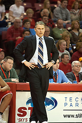 11 February 2006:  ..Coach Jim Les...Illinois State Redbirds fall to the Bradley Braves at home in Redbird Arena in Normal Illinois.