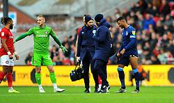 Fraizer Campbell of Huddersfield Town picks up an early injury- Mandatory by-line: Nizaam Jones/JMP - 30/11/2019 - FOOTBALL - Ashton Gate - Bristol, England - Bristol City v Huddersfield Town - Sky Bet Championship