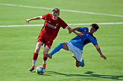 NAPLES, ITALY - Tuesday, September 17, 2019: Liverpool's Thomas Clayton (L) and SSC Napoli's Andrea Mancino during the UEFA Youth League Group E match between SSC Napoli and Liverpool FC at Stadio Comunale di Frattamaggiore. (Pic by David Rawcliffe/Propaganda)