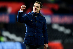 Fulham manager Scott Parker after the final whistle of the match - Mandatory by-line: Ryan Hiscott/JMP - 29/11/2019 - FOOTBALL - Liberty Stadium - Swansea, England - Swansea City v Fulham - Sky Bet Championship