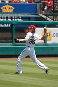 ANAHEIM, CA - JULY 21:  Starting pitcher Jered Weaver #36 of the Los Angeles Angels of Anaheim throws a pitch while warming up before the game against the Texas Rangers on July 21, 2011 at Angel Stadium in Anaheim, California. The Angels won the game in a 1-0 shutout. (Photo by Paul Spinelli/MLB Photos via Getty Images) *** Local Caption *** Jered Weaver