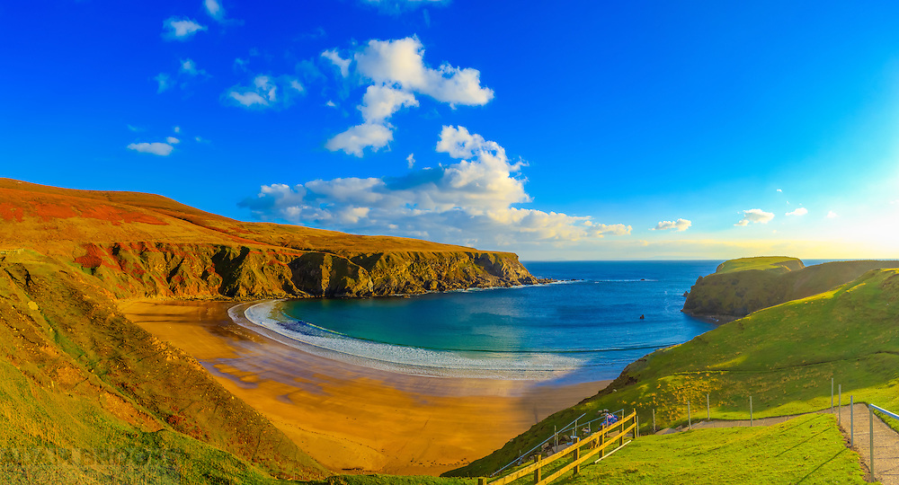 View overlooking Silver Strand Beach at Malin Beg taken back in October 2014.<br /> <br /> Image composed of 4 photos at 18mm in portrait orientation.