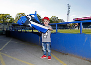 A young Rochdale fan during the EFL Sky Bet League 1 match between Rochdale and Charlton Athletic at Spotland, Rochdale, England on 5 May 2018. Picture by Paul Thompson.
