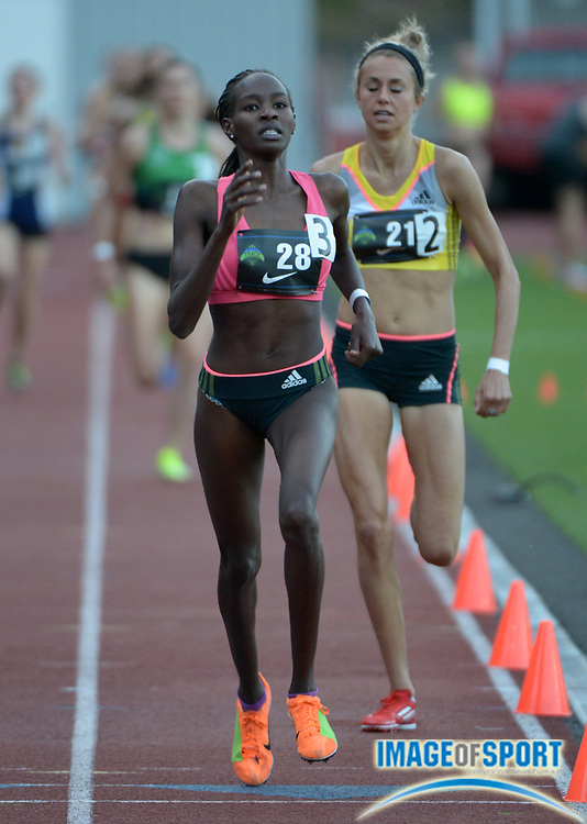 Jun 8, 2013; Portland, OR, USA; Violah Lagat (KEN) wins the womens 1,500m in 4:09.71 in the 2013 Portland Track Festival at Lewis & Clark College.