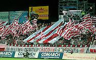 n/z.: Kibice Cacovii podczas meczu ligowego Cracovia Krakow - LKS Lodz , I liga polska , 6 kolejka sezon 2006/2007 , pilka nozna , Polska , Krakow , 15-09-2006 , fot.: Pawel Kowalski / mediasport..Cracovia's supporters during Polish league first division soccer match in Cracow. September 15, 2006 ; Cracovia Krakow - LKS Lodz ; first division ; 6 round season 2006/2007 , football , Poland , Cracow ( Photo by Pawel Kowalski / mediasport )