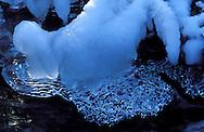 DEU, Germany, Eifel region, ice on a stream....DEU, Deutschland, Eifel, Eis auf einem Bach , ........