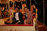 Charlie Caseley-Heyford and Kessiana Thorley, Moet Mirage, Holland Park. 16 September 2007. -DO NOT ARCHIVE-© Copyright Photograph by Dafydd Jones. 248 Clapham Rd. London SW9 0PZ. Tel 0207 820 0771. www.dafjones.com.