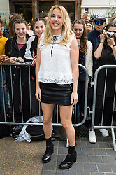 © Licensed to London News Pictures. 18/09/2016. ELLIE GOULDING attends the TOP SHOP UNIQUE  Spring/Summer 2017 show. Models, buyers, celebrities and the stylish descend upon London Fashion Week for the Spring/Summer 2017 clothes collection shows. London, UK. Photo credit: Ray Tang/LNP<br /> <br /> <br /> London, UK. Photo credit: Ray Tang/LNP