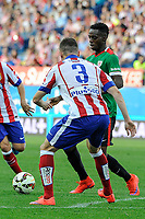Atletico de Madrid´s Guilherme Siqueira and Athletic Club´s Inaki Williams during 2014-15 La Liga match between Atletico de Madrid and Athletic Club at Vicente Calderon stadium in Madrid, Spain. May 02, 2015. (ALTERPHOTOS/Luis Fernandez)