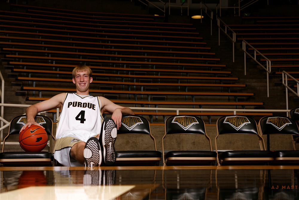 04 September 2008: Robbie Hummel, Purdue basketball player poses for a portrait in West  Lafayette, Ind.