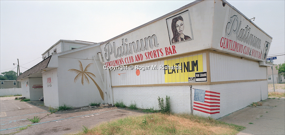Closed strip club, 2006. Photograph by Roger M. Richards