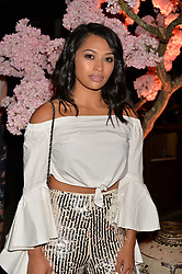 Vanessa White at the Warner Music Group and British GQ Summer Party in partnership with Quintessentially held at Nobu Shoreditch, Willow StreetLondon England. 5 July 2017.<br /> Photo by Dominic O'Neill/SilverHub 0203 174 1069 sales@silverhubmedia.com