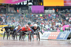 23/07/2017 : Marcel Hug (SUI), Tomoki Suzuki (JPN), T54, Men's 5000m, Final, at the 2017 World Para Athletics Championships, Olympic Stadium, London, United Kingdom