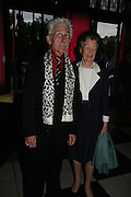 SIR ROY STRONG AND MRS. CORAL SAMUEL, V and A celebrates 150th anniversary. V and A. London. 26 June 2007.  -DO NOT ARCHIVE-© Copyright Photograph by Dafydd Jones. 248 Clapham Rd. London SW9 0PZ. Tel 0207 820 0771. www.dafjones.com.