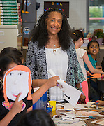 Lola McIntosh-Williams teachers second grade at TH Rogers School, May 11, 2015.