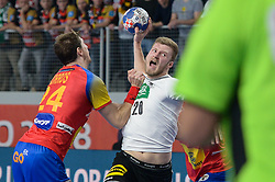 Philipp Weber of Germany during handball match between National teams of Germany and Spain on Day 7 in Main Round of Men's EHF EURO 2018, on January 24, 2018 in Arena Varazdin, Varazdin, Croatia. Photo by Mario Horvat / Sportida