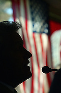 DOYLESTOWN, PA - APRIL 24:  State Rep. Bernie O'Neill  is silhouetted as he answers a question during the Central Bucks Chamber of Commerce State of the State breakfast at the Water Wheel April 24, 2014 in Doylestown, Pennsylvania.  (Photo by William Thomas Cain/Cain Images)