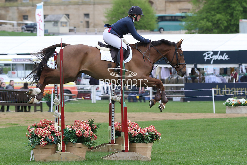 Eloise Carter riding Chocolate Domino during the International Horse Trials at Chatsworth, Bakewell, United Kingdom on 11 May 2018. Picture by George Franks.