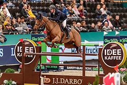 TWOMEY Billy (IRL), Kimba Flamenco<br /> Leipzig - Partner Pferd 2020<br /> IDEE Kaffee-Preis<br /> Springprfg. nach Fehlern und Zeit, int.<br /> 17. Januar 2020<br /> © www.sportfotos-lafrentz.de/Stefan Lafrentz