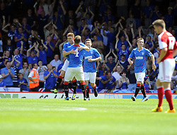Glasgow Rangers' Lewis Macleod celebrates his goal - Photo mandatory by-line: Joe Meredith/JMP - Tel: Mobile: 07966 386802 13/07/2013 - SPORT - FOOTBALL - Bristol -  Bristol City v Glasgow Rangers - Pre Season Friendly - Bristol - Ashton Gate Stadium