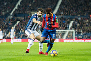 Crystal Palace #11 Wilfried Zaha, West Bromwich Albion (5) Claudio Jacob during the Premier League match between West Bromwich Albion and Crystal Palace at The Hawthorns, West Bromwich, England on 2 December 2017. Photo by Sebastian Frej.