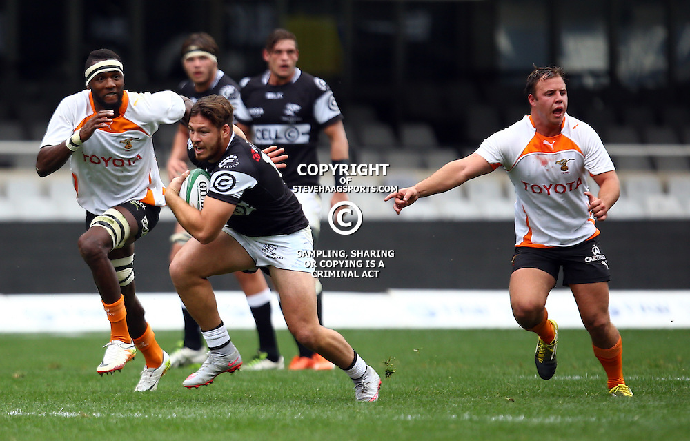 DURBAN, SOUTH AFRICA - SEPTEMBER 10: Marius Louw of the Cell C Sharks Under 21's during the Currie Cup U21 match between the Sharks and Free State at Growthpoint Kings Park on September 10, 2016 in Durban, South Africa. (Photo by Steve Haag/Gallo Images)
