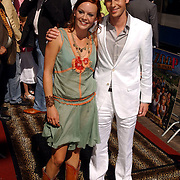 NLD/Amsterdam/20050710 - Premiere Zoop the Movie, Juliette van Ardenne en Ewout Genemans