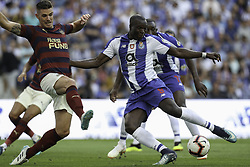 July 28, 2018 - Porto, Porto, Portugal - Porto's Cameroonian forward Vincent Aboubakar (R) in action during the Official Presentation of the FC Porto Team 2018/19 match between FC Porto and Newcastle, at Dragao Stadium in Porto on July 28, 2018. (Credit Image: © Dpi/NurPhoto via ZUMA Press)