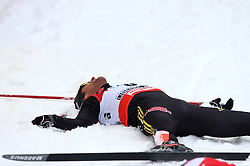 Ronny Ackermann of Germany exhausted at Nordic Combined Individual Gundersen NH, 10 km, at FIS Nordic World Ski Championships Liberec 2008, on February 22, 2009, in Vestec, Liberec, Czech Republic. (Photo by Vid Ponikvar / Sportida)