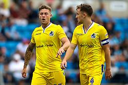 James Clarke of Bristol Rovers and Tom Lockyer of Bristol Rovers - Mandatory by-line: Robbie Stephenson/JMP - 18/08/2018 - FOOTBALL - Adam's Park - High Wycombe, England - Wycombe Wanderers v Bristol Rovers - Sky Bet League One