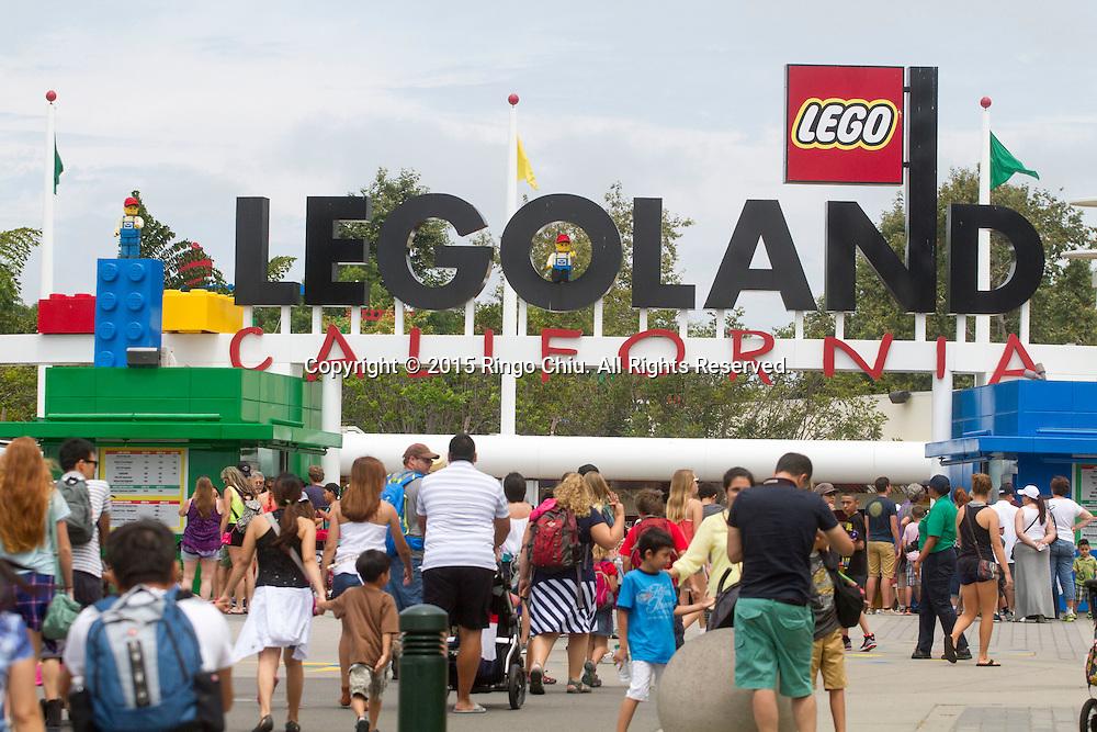 The entrance of Legoland in Carlsbad, California.(Photo by Ringo Chiu/PHOTOFORMULA.com)