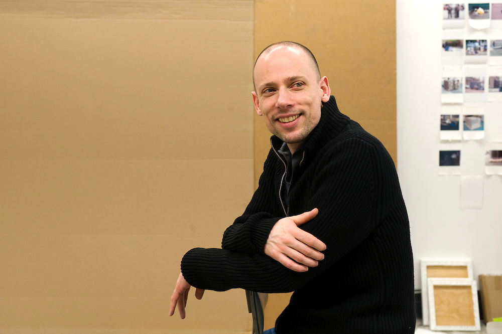 German painter Tim Eitel at his studio in Dumbo - Brooklyn