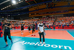21-09-2019 NED: EC Volleyball 2019 Netherlands - Germany, Apeldoorn<br /> 1/8 final EC Volleyball - Germany win 3-1 and goed to quarter final against Poland / Coach Andrea Giani