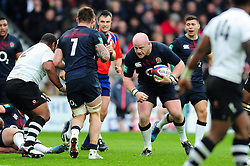 Dan Cole of England in possession - Mandatory byline: Patrick Khachfe/JMP - 07966 386802 - 19/11/2016 - RUGBY UNION - Twickenham Stadium - London, England - England v Fiji - Old Mutual Wealth Series.