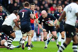 Dan Cole of England in possession - Mandatory byline: Patrick Khachfe/JMP - 07966 386802 - 19/11/2016 - RUGBY UNION - Twickenham Stadium - London, England - England v Fiji - Old Mutual Wealth Series.