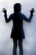 silhoutte of a girl