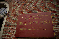 Old North Church - North End.  Boston Walking Tour.  ©2016 Karen Bobotas Photographer