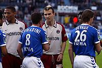 Fotball<br /> Frankrike 2003/04<br /> Strasbourg v Paris St. Germain<br /> 1. mai 2004<br /> Foto: Digitalsport<br /> NORWAY ONLY<br /> <br /> DANIEL LJUBOJA (PSG) / PASCAL CAMADINI (STR)