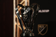 ATLANTA, GA - DECEMBER 07: Philip F. Anschutz MLS Cup Trophy. The MLS State of the League Address and Press Conference was held on December 7, 2018 at the Westin Peachtree Plaza, Atlanta Peachtree Ballroom in Atlanta, GA.
